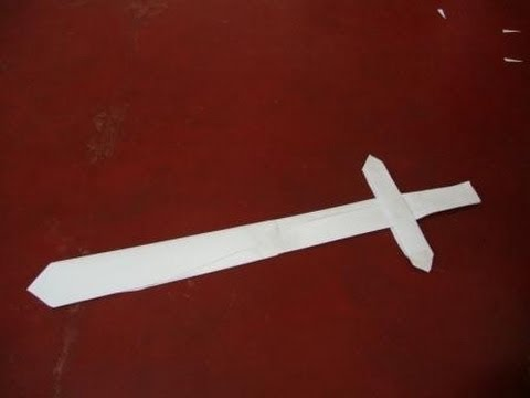 How to Make A Paper Sword-Origami Easy - YouTube