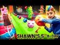 SHAWN'S VERY PIGGY Birthday!!  FV Family Escape Room Bday Haul Vlog