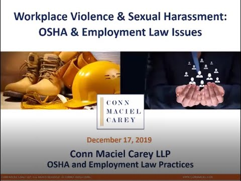 workplace-violence-&-sexual-harassment:-osha-&-employment-law-issues