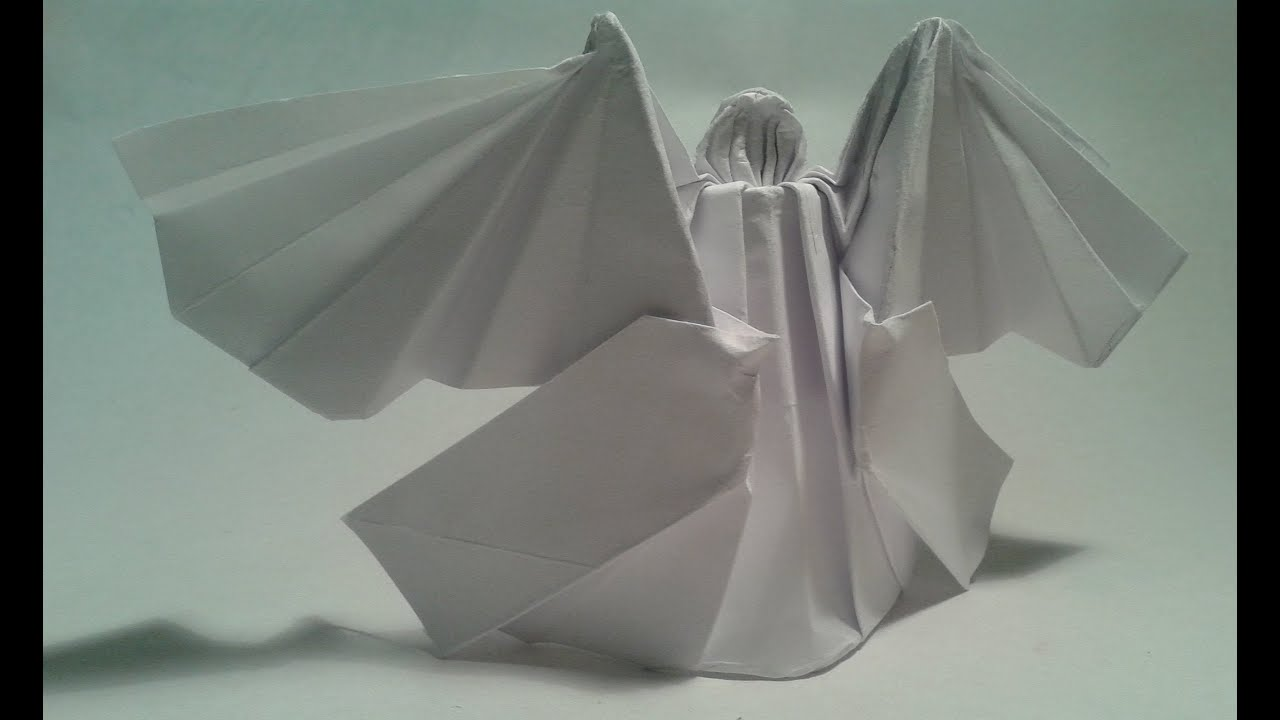 Origami - How to make an origami angel - YouTube - photo#3