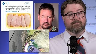 CDC & washing chicken, poop bomb, alligator in yoga pants, Hugh Jackman : Daily News Weekly