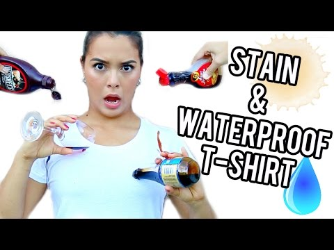 Thumbnail: TEST IT OUT! Stain & Waterproof T-shirt!!