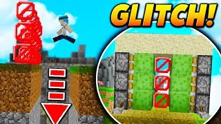 INVISIBLE BLOCK GLITCH TRAP! - Minecraft SKYWARS TROLLING (BANNABLE?!)