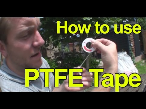 HOW TO USE PTFE TAPE - Plumbing Tips