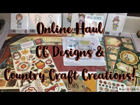 Online Crafty Haul   CC Designs and Country Craft Creations