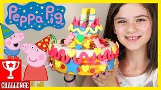 peppa pig s birthday cake play doh challenge   kittiesmama