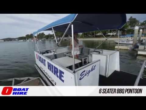 O Boat Hire - 6 Seater BBQ Pontoon
