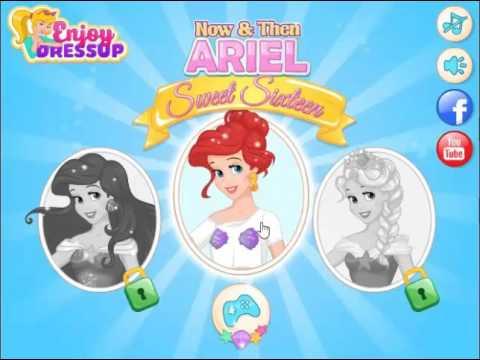 เกมแต่งตัวเจ้าหญิงเอเรียล Now And Then Ariel Sweet Sixteen