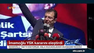 Ekrem İmamoğlu, YSK kararını eleştirdi