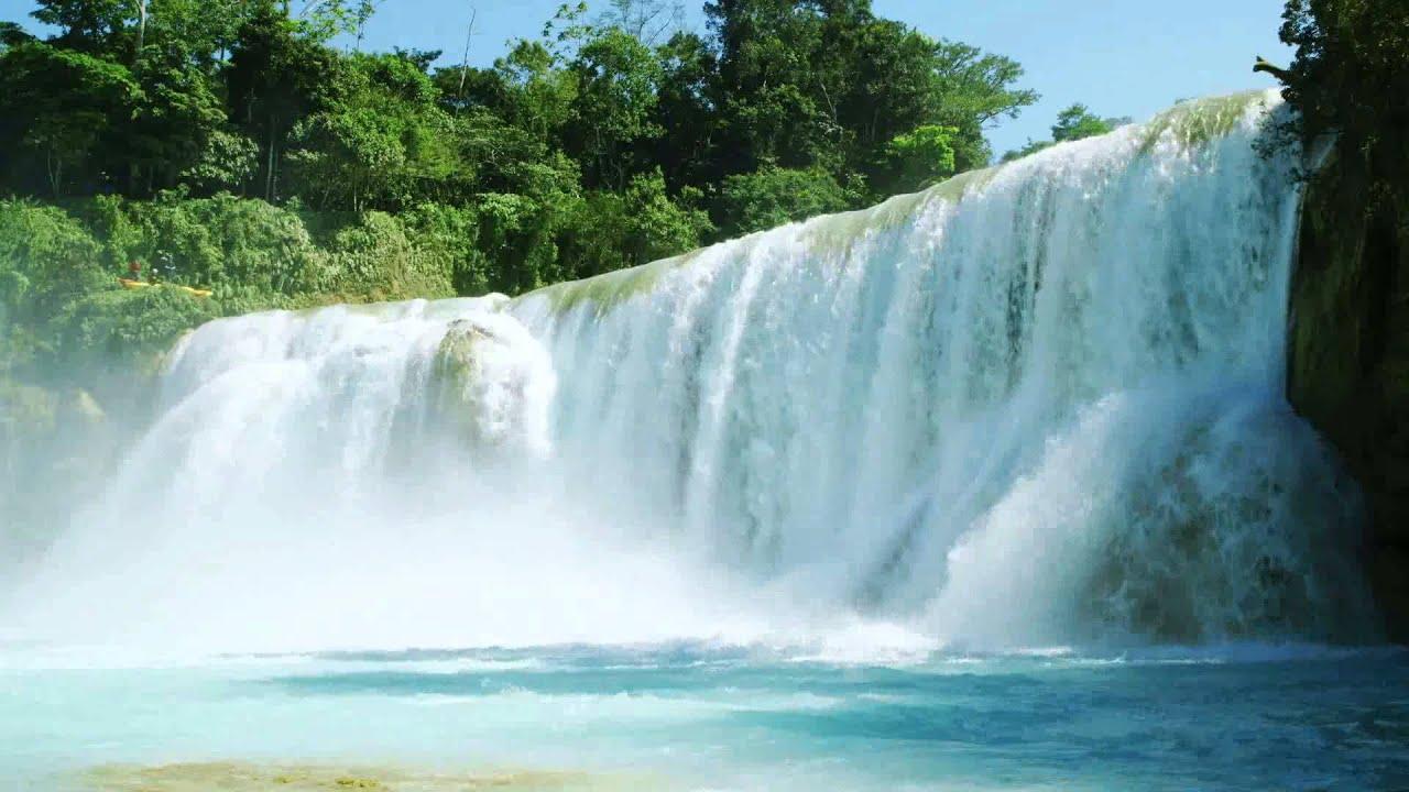 Thomas Kinkade Fall Wallpaper Kayaking En Cascadas De Agua Azul Youtube