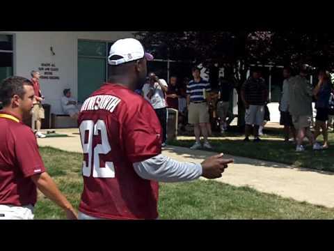 Albert Haynesworth at Redskins Park - DC Pro Sports Report 7/31/10