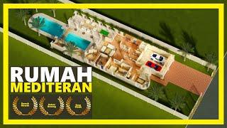 Gambar cover Desain Rumah Mewah 2 Lantai Dengan Kolam Renang ( Bergaya Mediteran )