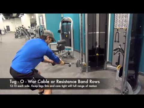 Golf Exercise For More Power – Tug O War Cable Rows