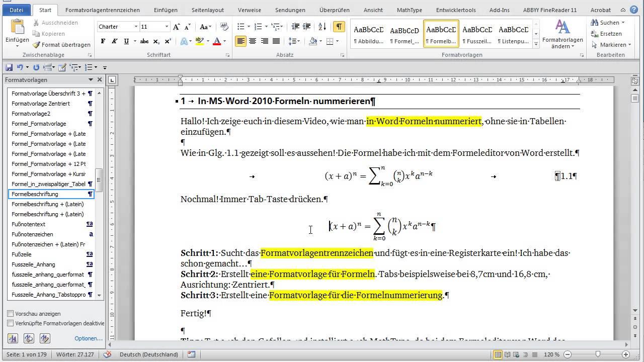formeleditor word 2010