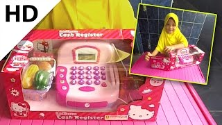 Hello Kitty cash register toy - Luna unboxing it.