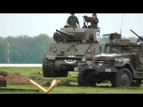 Battle for Elkhart Airport Tiger Tank Verse Sherman