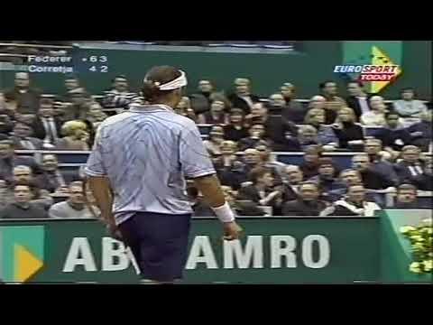 Rotterdam 2001 Roger Federer - Alex Corretja