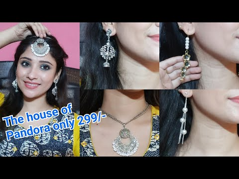4 Jewellry in 299 only || The house of Pandora || New jewlery box