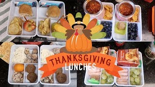 Thanksgiving Theme Lunches!  Week of School Lunches! Gobble Gobble.