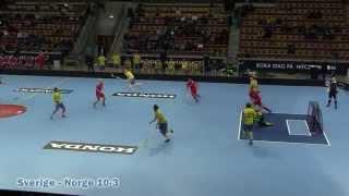 Sverige-Norge 10-3, genrep inför Innebandy-VM, highlights