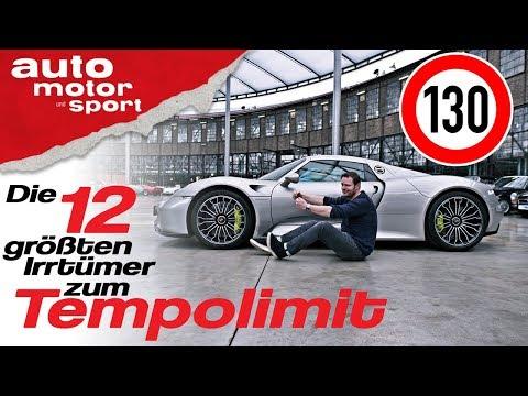 Die 12 größten Irrtümer zum Tempolimit auf der Autobahn - Bloch erklärt #55 | auto motor & sport
