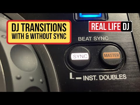 Free DJ Lessons 01 | DJ Transitions With And Without Using The Sync Button | Real Life DJ