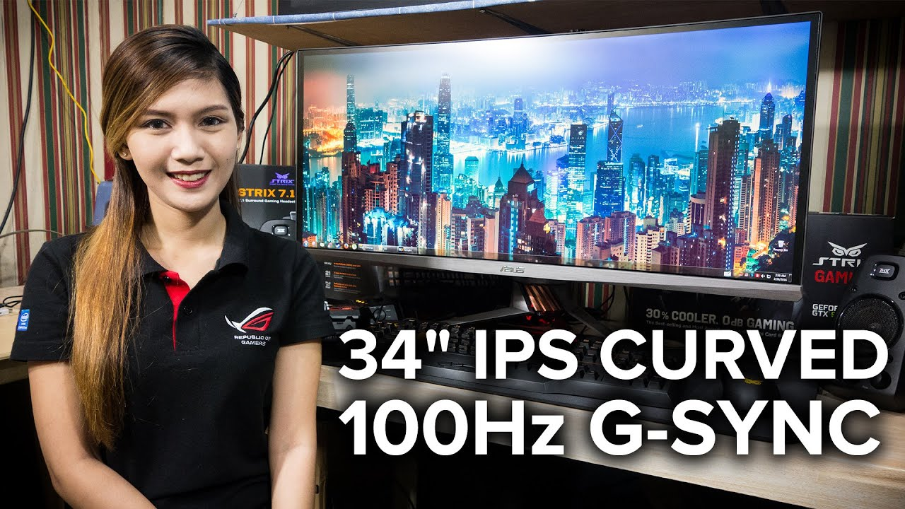 ASUS ROG Swift PG348Q Curved Ultra Wide Gaming Monitor - Full Review / GSync Test