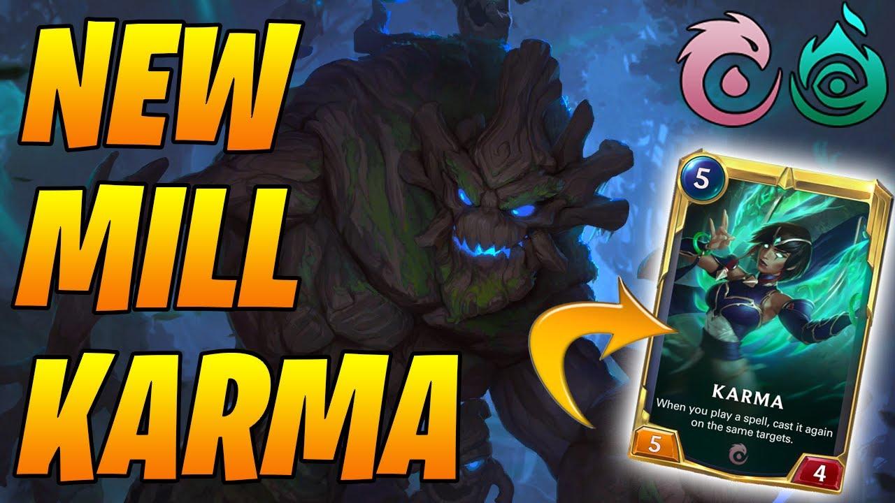 8-3 New Spooky MILL Karma Maokai | Legends of Runeterra | Controltheboard