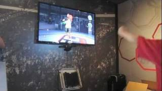 UFC Personal Trainer game for the Xbox 360 Kinect™ is previewed in Las Vegas.
