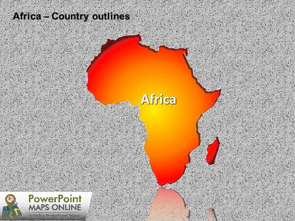map of africa powerpoint presentation - youtube, Modern powerpoint