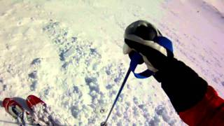 Skiing Lenin Chute at Big Sky Thumbnail