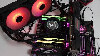 Gigabyte Aorus Liquid Cooler 280 RGB effects