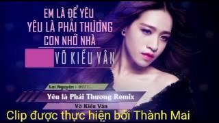 Yêu Là Phải Thương Remix BEAT Karaoke