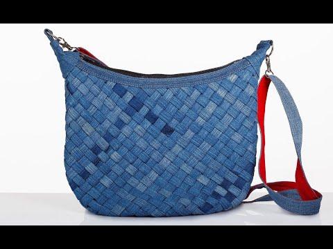 Джинсовая сумка своими руками. Плетеная джинсовая сумка. Bag Of Jeans. Braided Denim. Bag
