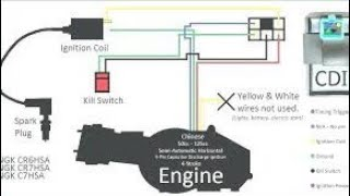 Wiring diagram chinese dirt bike 110cc/90cc/70cc/50cc - YouTube