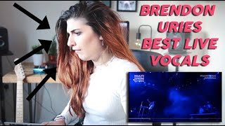 Female Vocalist REACTS to Brendon Uries BEST Live Vocals
