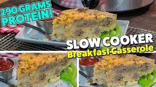 Slow Cooker BREAKFAST Casserole Meal Prep Recipe