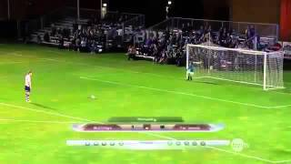 save 5 goal penalty with his face & win - Scott Sterling vs football Funny