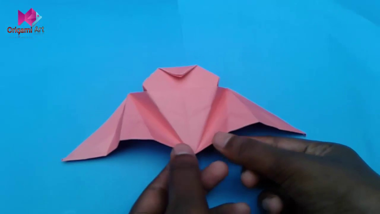 How To Make A Paper Flapping Bat Easy Origami Out Of