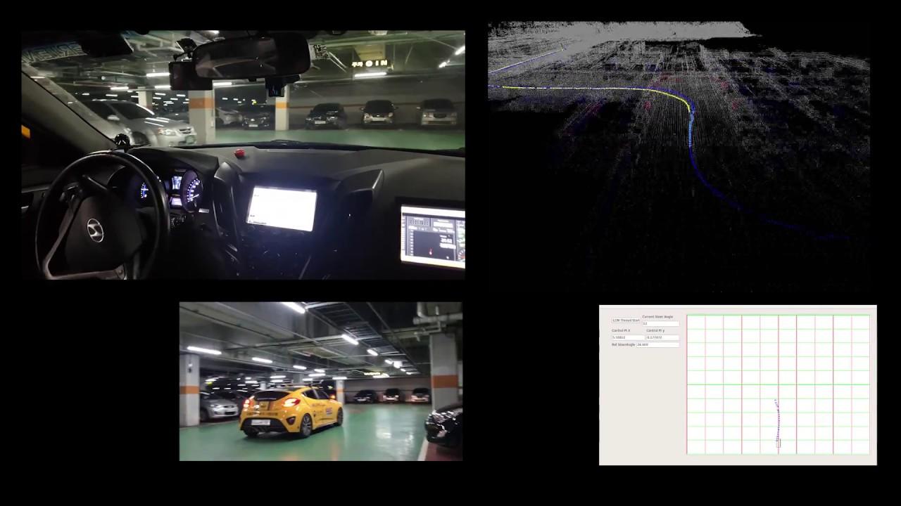 [Experiment] Sensor fusion Autonomous Driving in Underground Parking lot