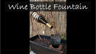 Wine Bottle Fountain