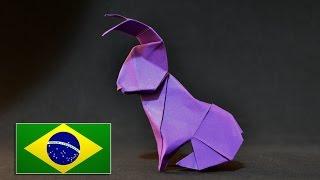 Origami: Lebre de dinheiro  (Barth Dunkan)  - Instruções em português PT BR