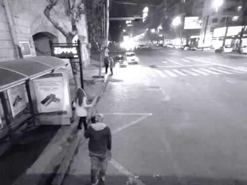 თბილისში გოგომ მთვრალი კაცი ცემა   TbilisSi gogom mTvrali kaci cema