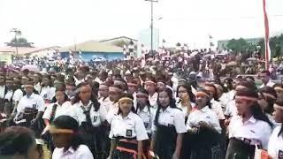 Paduan Suara SMK Sekecamatan Langke Rembong (Berkibarlah Bendera ku, Serumpun Padi & Tanah Air Ku)