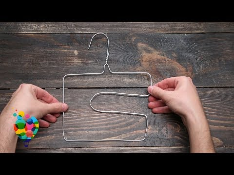 How To Make Paper Towel Roll Holder or Toilet Paper Roll Holder From Clothes Hanger | A+ hacks