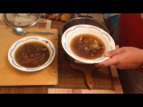 Суп с сухих грибов