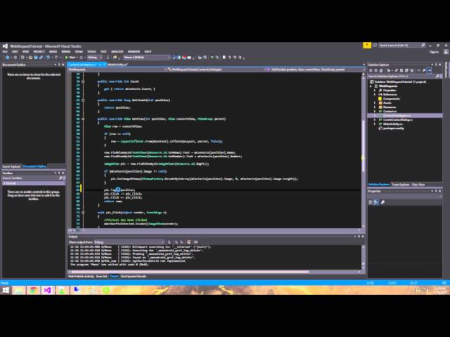 Xamarin Android Tutorial   20   Inserting images into SQL with Web Request