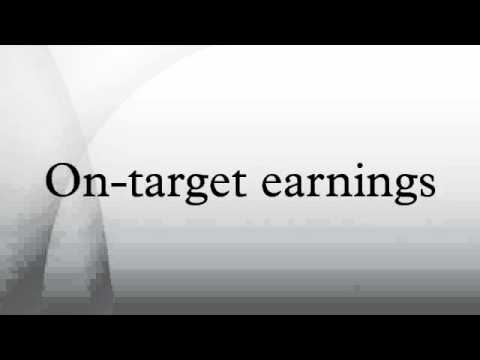 On-target earnings
