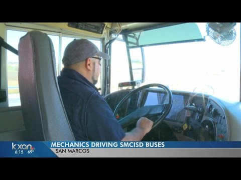 San Marcos mechanics fill in for school bus drivers