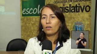 Jornal Acontece - Apresentação Escola do Legislativo e Memorial - LIBRAS